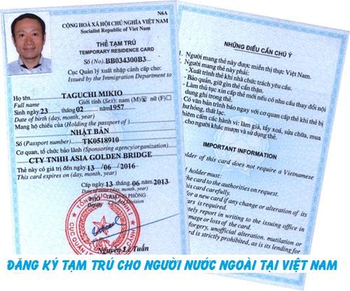 Hướng dẫn đăng ký tạm trú cho người nước ngoài tại Việt Nam