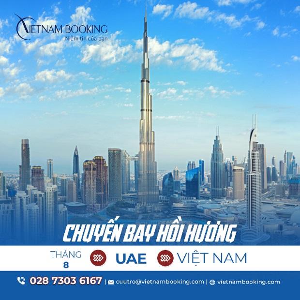 Vé máy bay từ UAE về Việt Nam