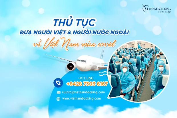 vé máy bay quốc tế về Việt Nam hỗ trợ người Việt hồi hương